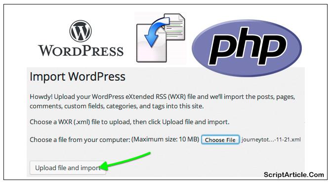 import-wordpress-xml-wxr