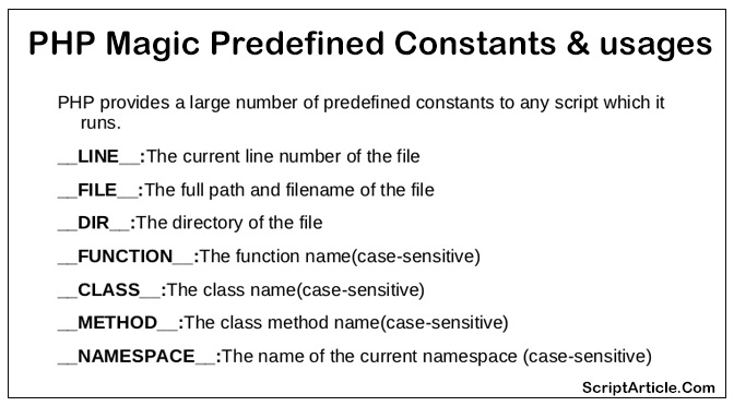 magic-php-predefined-constant