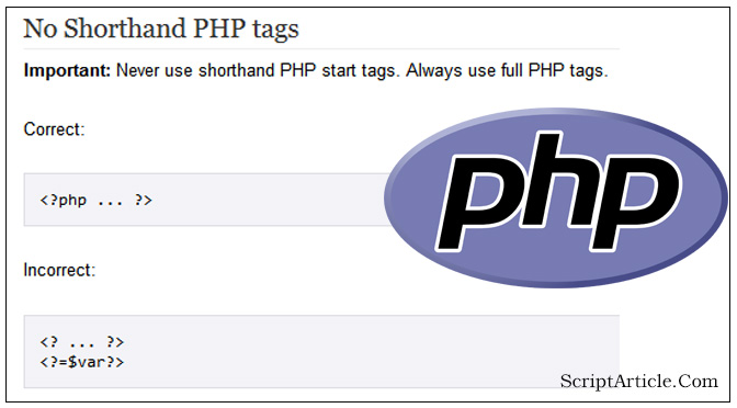php short_open_tag \u003d on should not be used scriptarticle com