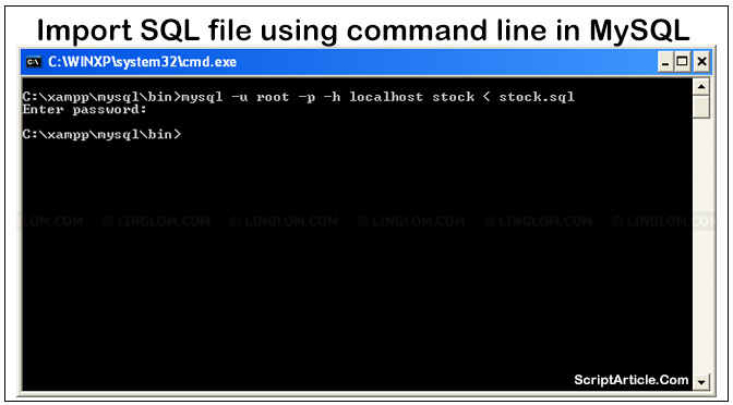 import-an-sql-file-using-command-line-in-mysql